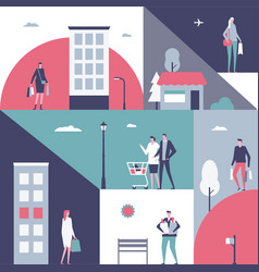 shopping - flat design style vector image