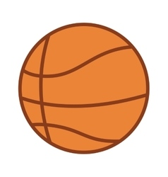 Silhouette color with basketball ball vector