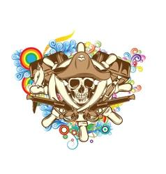 Skull emblem vector