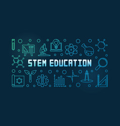 stem education colorful concept linear vector image