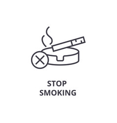 stop smoking thin line icon sign symbol vector image