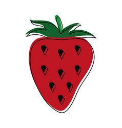 Strawberry fruit symbol vector