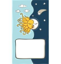 sun and moon cartoon vector image