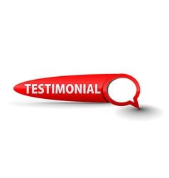 Testimonial button vector