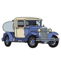 the vintage dairy tank truck vector image