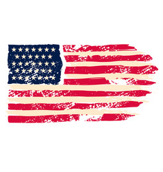 usa flag in grunge style design element vector image