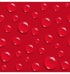 Water drops on red background seamless pattern vector