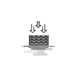 Water evaporation web icon flat line filled gray vector