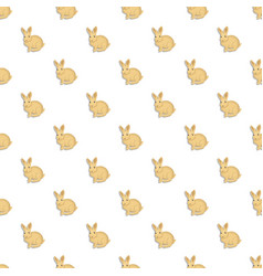 Wild rabbit pattern seamless vector
