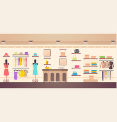 Women s clothes store shopping vector