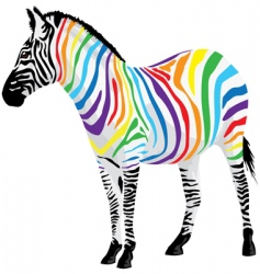 Zebra strips different colors vector