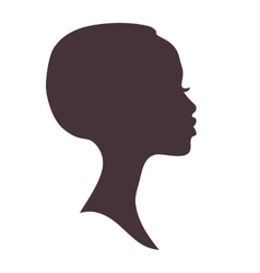 African woman face silhouette vector image vector image