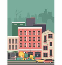 cityscape city street vector image