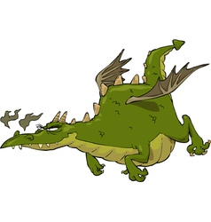 green flying dragon vector image vector image