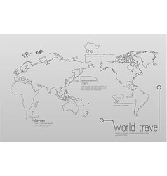 Infographic travel and education concept vector image