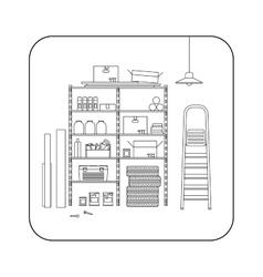 Storeroom line interior vector