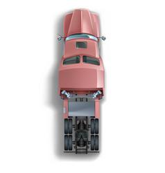 truck top view vector image