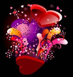 valentine ka-boom vector image vector image