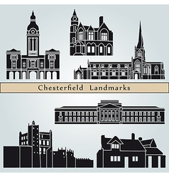 Chesterfield landmarks and monuments vector image