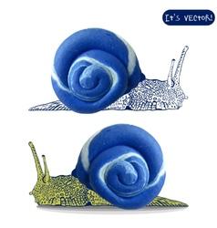 Icon of plasticine snail vector