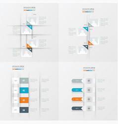 timeline 4 item orange blue gray color vector image