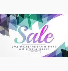 abstract geometric sale banner design template vector image vector image