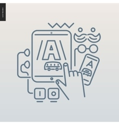 App development outlined icon vector image