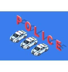 Isometric 3D Police Car vector image vector image