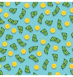 seamless background with money vector image