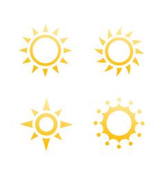 sun logo elements icons vector image