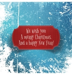 Christmas and happy New Year red paper Banner vector image vector image