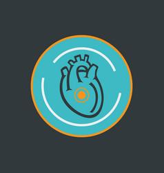 heart disease logo icon design vector image