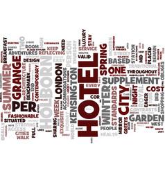 London hotel breaks grange holborn hotel holborn vector