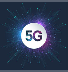 5g logo network wireless systems and internet vector image