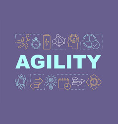 Agility word concepts banner vector
