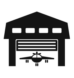 Aircraft hangar icon simple style vector