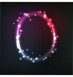alphabet Neon letter vector image