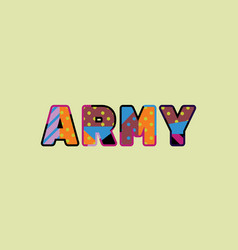 army concept word art vector image