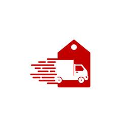 banner delivery logo icon design vector image