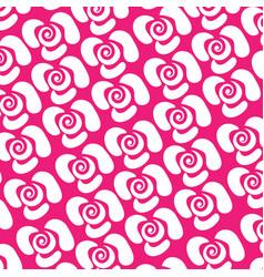 basic rgbwhite flower pattern on pink background vector image