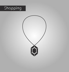 Black and white style icon necklace with precious vector