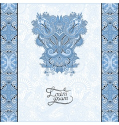 Blue colour invitation card with neat ethnic vector