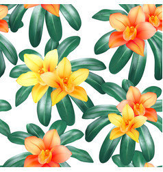 Botanical seamless pattern with tropical vector