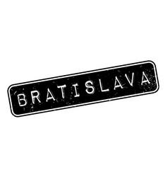 Bratislava rubber stamp vector