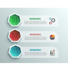 Business infographics banner origami style vector image