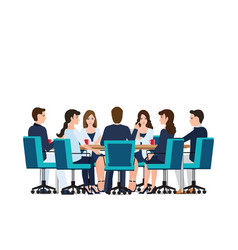 business meeting with business people discussing vector image