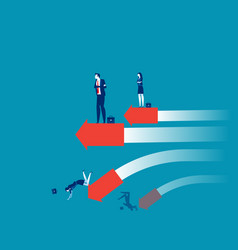 Business person success and failure vector