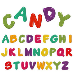Candy alphabet isolated on white vector