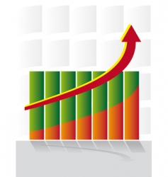 chart development with an arrow vector image