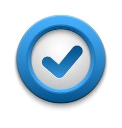 Check icon button vector
